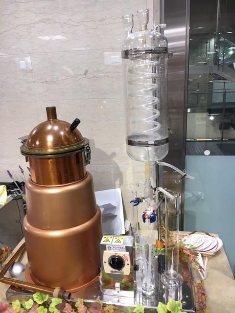 珈琲油を取り出す水蒸気蒸留装置