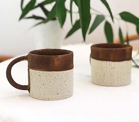 陶器の珈琲カップ