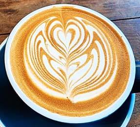 濃厚なカフェラテ