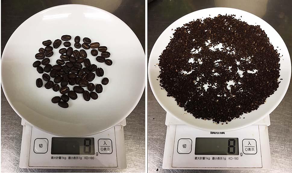 珈琲粉の表面積
