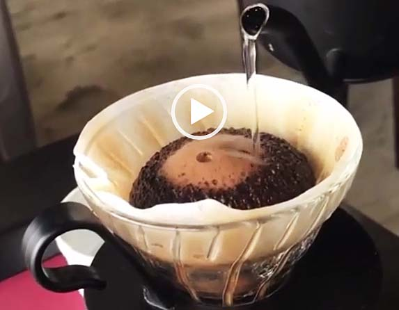 コーヒー泡蒸らし