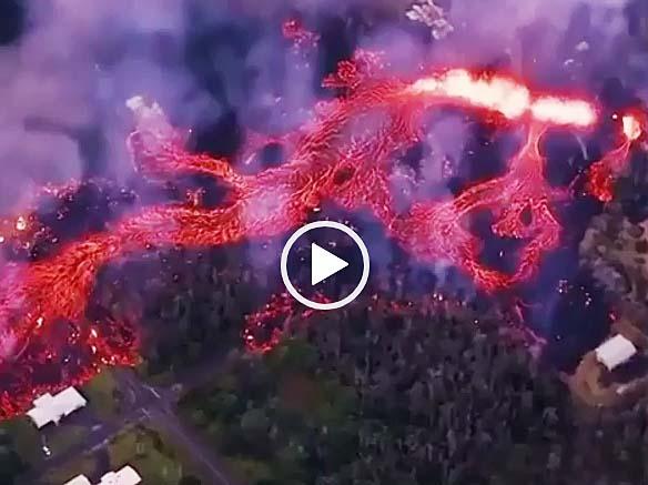 ハワイコナ地区火山の噴火