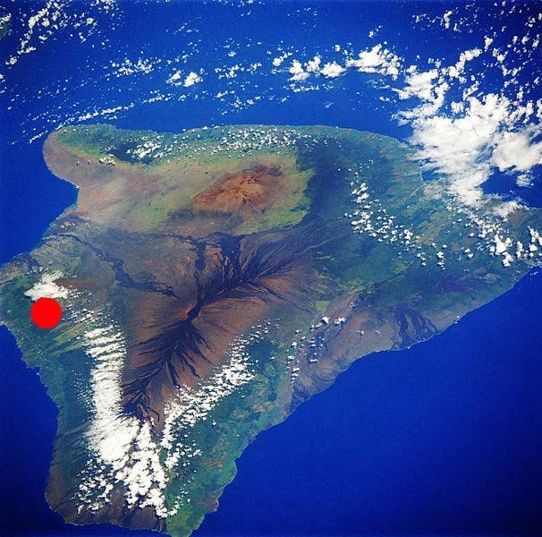 ハワイ島珈琲産地航空写真