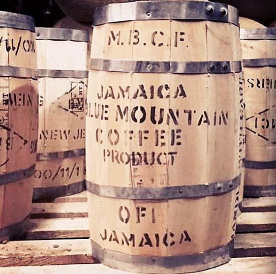 ブルーマウンテン珈琲の樽